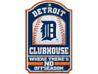 Detroit Tigers Wincraft 11x17 Wood Sign Flags & Banners