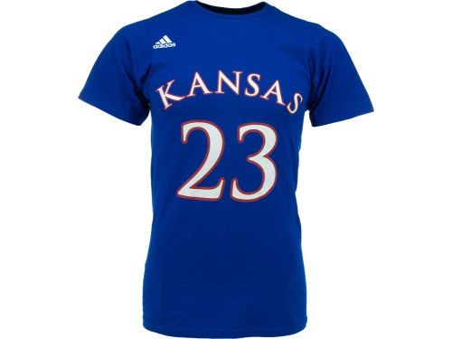 Kansas Jayhawks NCAA Adidas Basketball Player T-Shirt