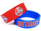 Detroit Pistons Aminco Inc. Wide Bracelet 2pk Gameday & Tailgate