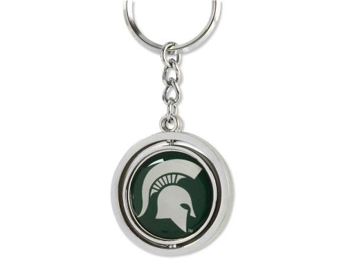 Michigan State Spartans Aminco Inc. Spinning Keychain
