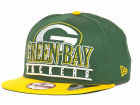 Green Bay Packers New Era NFL Stack Punch 9FIFTY Snapback Cap Hats