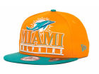 Miami Dolphins New Era NFL Stack Punch 9FIFTY Cap Snapback Hats