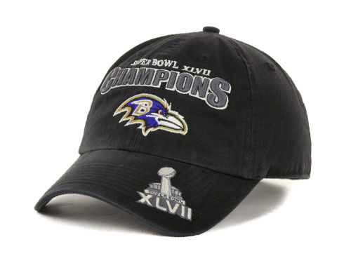 Baltimore Ravens '47 Brand NFL Super Bowl XLVII Champion Clean Up Cap Hats