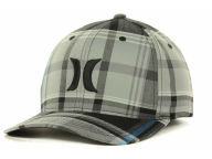 Hurley Harbor Plaid Flex Cap Stretch Fitted Hats