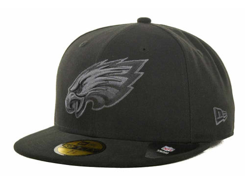 Philadelphia Eagles New Era NFL Black Gray Basic 59FIFTY Cap Hats