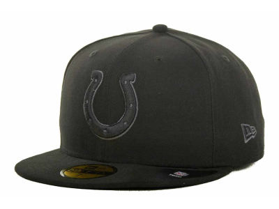 Indianapolis Colts NFL Black Gray Basic 59FIFTY Cap Hats
