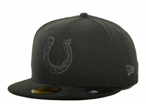 Indianapolis Colts New Era NFL Black Gray Basic 59FIFTY Cap Hats