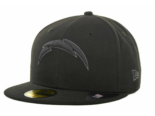 San Diego Chargers New Era NFL Black Gray Basic 59FIFTY Cap Hats