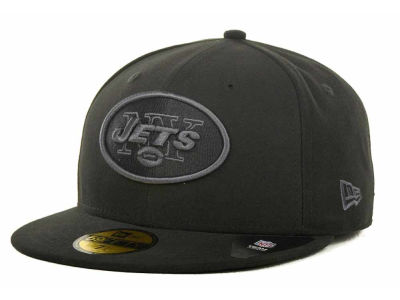 New York Jets NFL Black Gray Basic 59FIFTY Cap Hats