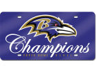 Baltimore Ravens Rico Industries NFL Super Bowl XLVII Champ Laser Auto Tag Auto Accessories