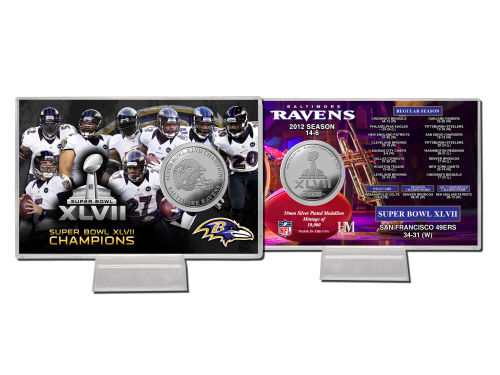 Baltimore Ravens Highland Mint NFL Super Bowl XLVII Champ Coin Card