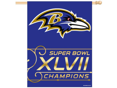 Baltimore Ravens Wincraft NFL Super Bowl XLVII Champ 27x37 Vertical Flag