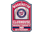 Washington Nationals Wincraft 11x17 Wood Sign Flags & Banners