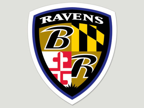 Baltimore Ravens Wincraft Die Cut Color Decal 8in X 8in