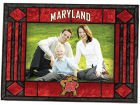 Maryland Terrapins Art Glass Picture Frame Bed & Bath