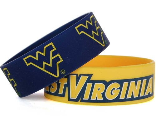 West Virginia Mountaineers Aminco Inc. Wide Bracelet 2pk