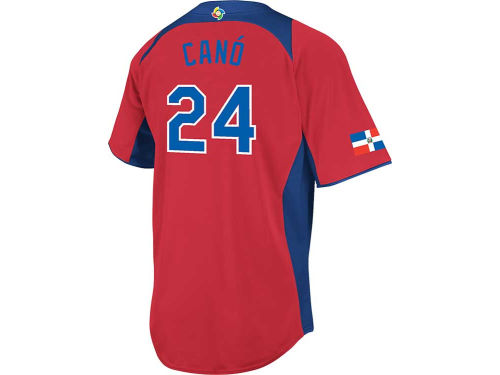 Dominican Republic Cano Majestic MLB World Baseball Classics CB Player Road Jersey
