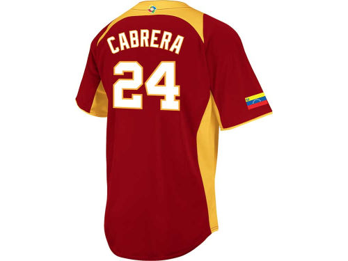Venezuela Cabrera Majestic MLB World Baseball Classics CB Player Road Jersey