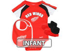 Detroit Red Wings Outerstuff NHL Infant Creeper Bib and Bootie Set Infant Apparel