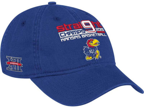 Kansas Jayhawks adidas 2013 KANSAS 9 Straight Adjustable Cap Hats
