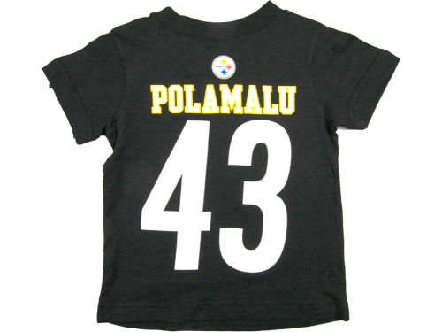 Pittsburgh Steelers Troy Polamalu Outerstuff NFL Youth Big Number T-Shirt