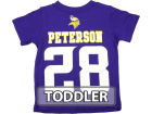 Minnesota Vikings Adrian Peterson Outerstuff NFL Toddler Big Number T-Shirt T-Shirts