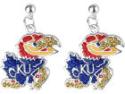 Kansas Jayhawks NCAA Rhinestone Earrings Jewelry