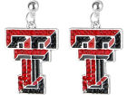 Texas Tech Red Raiders NCAA Rhinestone Earrings Jewelry