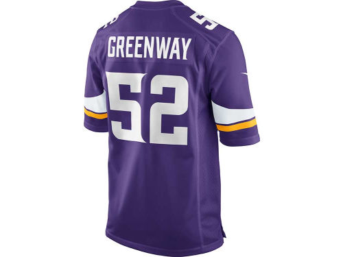 Minnesota Vikings Chad Greenway Nike NFL Men's Game Jersey