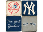 New York Yankees Italian Marble Coasters 4 Pack Kitchen & Bar