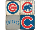 Chicago Cubs Italian Marble Coasters 4 Pack Kitchen & Bar