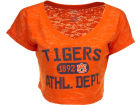Auburn Tigers Blue 84 NCAA Womens Safe Burnout Crop Top T-Shirts