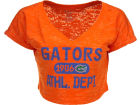 Florida Gators Blue 84 NCAA Womens Safe Burnout Crop Top T-Shirts