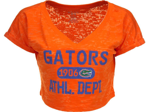 Florida Gators Blue 84 NCAA Womens Safe Burnout Crop Top