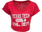 Texas Tech Red Raiders Blue 84 NCAA Womens Safe Burnout Crop Top T-Shirts