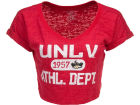 UNLV Runnin Rebels Blue 84 NCAA Womens Safe Burnout Crop Top T-Shirts