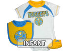Denver Nuggets Outerstuff NBA Infant Bib/Bootie Set Infant Apparel