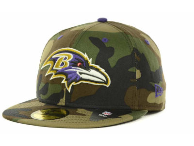 Baltimore Ravens NFL Camo Pop 59FIFTY Cap Hats