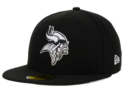 Minnesota Vikings NFL Black And White 59FIFTY Cap Hats