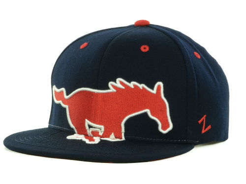 Southern Methodist Mustangs Zephyr NCAA Menace Snapback Cap Hats