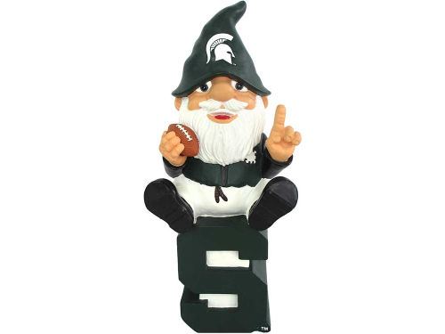 Michigan State Spartans Forever Collectibles Gnome Sitting on Logo