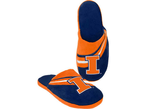 Illinois Fighting Illini Forever Collectibles Big Logo Slide Slippers