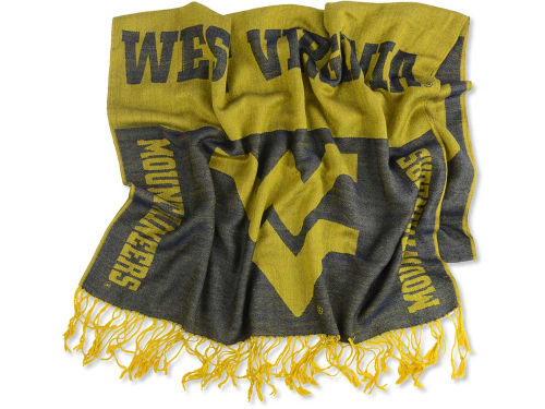 West Virginia Mountaineers Forever Collectibles Logo Pashmina Scarf