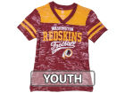 Washington Redskins Outerstuff NFL Youth Girls Burnout Jersey T-Shirt T-Shirts