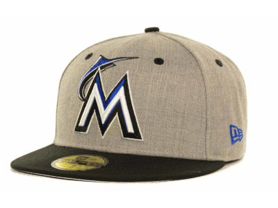 Miami Marlins MLB Gray Hound Fitted 59FIFTY Cap Hats