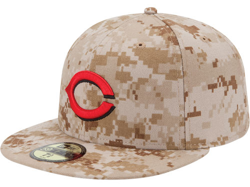 Cincinnati Reds New Era MLB 2013 Memorial Day Stars & Stripes 59FIFTY Cap Hats