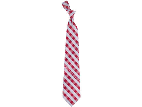Alabama Crimson Tide Eagles Wings Polyester Checked Tie
