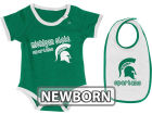 Michigan State Spartans Colosseum NCAA Newborn Jr Bib And Bodysuit Infant Apparel