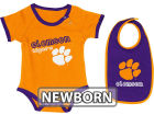 Clemson Tigers Colosseum NCAA Newborn Jr Bib And Bodysuit Infant Apparel