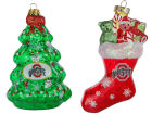 Ohio State Buckeyes Blown Glass Ornament 2 Pack Holiday